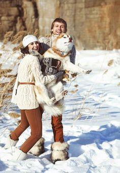 зимняя фотосессия лав стори