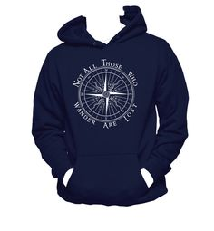 Not All Who Wander Are Lost Hanes Unisex Hooded by NerdGirlTees