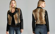 Mackage Leather Jacket - Tamika Fur Trim_2