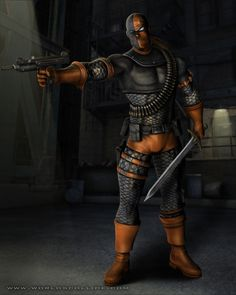 View an image titled 'Deathstroke Art' in our Mortal Kombat vs. DC Universe art gallery featuring official character designs, concept art, and promo pictures. Dc Deathstroke, Deathstroke The Terminator, Deadshot, Mortal Kombat 8, Dc Comics, Dracula Untold, Red Hood Jason Todd, Giant Bomb, Universe Art