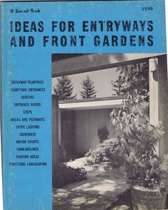 Vintage Mid Century Ideas Entry Front Garden Sunset Book Landscape Architecture