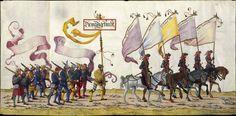 Albrecht Altdorfer (c. 1480 -1538), Hans Burgkmair (1473-1531), Albrecht Dürer (1471-1528) & others — Triumphal Procession, 1517 (1440x708)