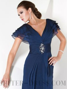 2015 New A-line V-neck Chiffon Mother of the Bride Dresses