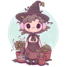 "Gefällt 226 Mal, 8 Kommentare - Naomi Lord (@naomi_lord) auf Instagram: ""To go with the rest of my Herbology series have a little Professor Sprout ✨should I draw chibis of…"""