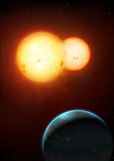 ❧ Twin Sun Planet Kepler 35b: Mark Garlick