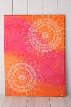 I call it Sunset Mandalas, this beautiful mandala painting will surely bring warm and beautiful sunsets with positive energy in your home. A major part of this painting was also inspired by sunflowers.  I made this mandala art with lots of details and some cool soothing color combination. The colors are all warm and radiates positive vibes. This gorgeous art will take your home decor to the next level. Detailed henna art makes it one of a kind and a unique piece of art. Perfect gift for any…