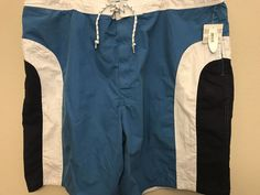 9da07155d230c Size XXL 2XL Blue Swim Trunks Elastic Waist Wave Zone New NWT   Clothing,  Shoes
