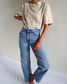 Vintage cream cotton blend lightweight blouse