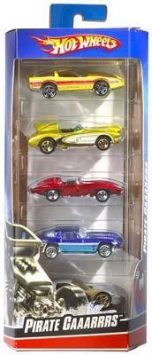 Hot Wheels Hot Wheels 5-Car Gift Pack Assorted -- Diecast Model Car -- 1/64 Scale