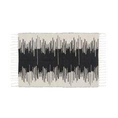 tapis noir/naturel
