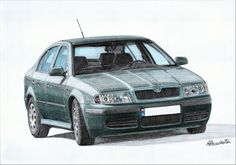 Skoda octavia 3 3 maybe the color isn t very interesting but it fits the conservative line of this model drawings for order dm email for details skoda octavia czech compact hatchback liftback car fwd drawing art artist automotive design gray green Models Men, Mini Car, Mk1, Automotive Design, Drawing Art, Green And Grey, Compact, Drawings, Showroom