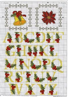 jingle bells cross stitch motif pattern - Google Search
