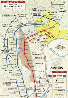 13 May 1864 - Battle of Resaca - Casualties: 5,547 = 2,747 Union / 2,800 Confederate