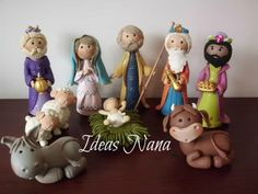 15 cms. Christmas Nativity, Diy Christmas Ornaments, Christmas Themes, Kids Christmas, Sculpey Clay, Polymer Clay Dolls, Polymer Clay Projects, Polymer Clay Christmas, Clay Baby