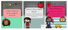 A blog post about 3 Back to School no-prep kindergarten centers. Literacy and math centers that will make your back-to-school a lot easier!