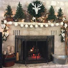 Mantle Ideas, Deer, Holidays, Christmas, Home Decor, Xmas, Holidays Events, Decoration Home, Room Decor