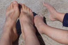 with sand between your toes