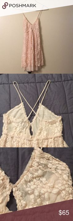 Free People Intimates Dress Light pink dress. Worn once on my birthday. Perfect for a cute but sexy kind of style. Dress is sheer so nipple pads could be used. Free People Dresses Mini