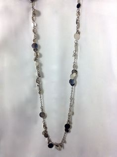 Silver Disc Necklace and Earring Set via aladyloves.com