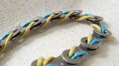 Split Side-Winder Bike Chain Bracelet от GadgetGirlsGoods на Etsy
