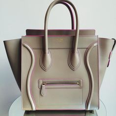 celine beige bag with pink stitching - Google Search
