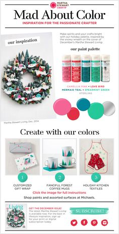 Martha Stewart Crafts ® Mad About Color: December 2014