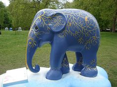 'Eko' by Paul Kidby - Elephant Parade in London, England 2010;  photo by .Ines, via Flickr