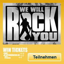 25 Years Ticketcorner - We Will Rock You Fan Quiz auf Facebook. Gewinnt Tickets für das Hit Musical in Basel