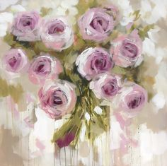 cashmere rosa - art print - Art by Brooks Rose Oil Painting, Flower Painting Canvas, Flower Canvas, Flower Art, Watercolor Paintings, Acrylic Flowers, Abstract Flowers, Watercolor Flowers, Guache