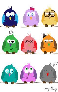 owls by Mary Birdy