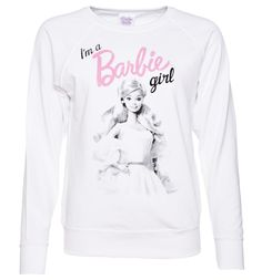TruffleShuffle Womens Im A Barbie Girl Sweater Show the world youre a true Barbie girl with this stylish sweater! Featuring a black and white print of the chic lady with the classic candy pink Barbie logo, youll be feeling snuggly and sweet in no  http://www.MightGet.com/february-2017-3/truffleshuffle-womens-im-a-barbie-girl-sweater.asp