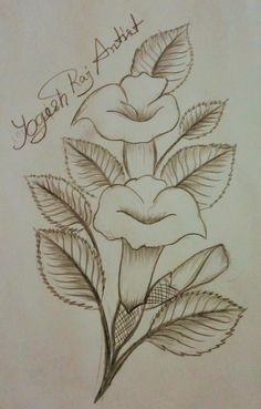 18 Ideas for tattoo flower outline embroidery patterns Floral Tattoo Design, Flower Tattoo Designs, Flower Tattoos, Pencil Drawings Of Flowers, Pencil Sketch Drawing, Painting Patterns, Fabric Painting, Embroidery Applique, Embroidery Patterns