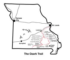 6ece112c4d OZARK TRAIL MISSOURI HIKE BIKE MAP