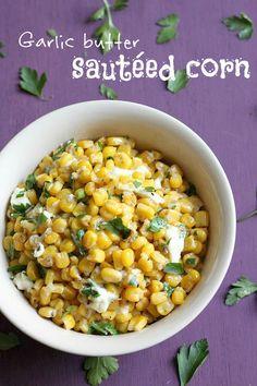 Garlic butter sauteed corn