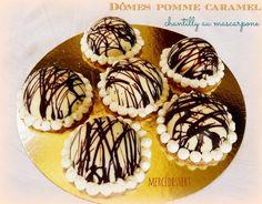 Dômes pomme caramel chantilly au mascarpone