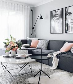 110+ Fabulous Dark Grey Living Room Ideas To Inspire You - Page 75 of 112