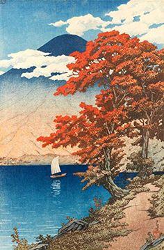 "Japanese Art Print ""Lake Chuzenji at Nikko"" by Kawase Hasui. Shin Hanga and Art Reproductions http://www.amazon.com/dp/B00VCFER4M/ref=cm_sw_r_pi_dp_mpQvwb0AXFMH1"