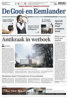 Noordhollands Dagblad wordt tabloid op 13 april 2013 (afbeelding is dummy) 13 April