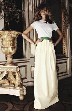 Divine white evening dress with simple ribbon belt.jpg