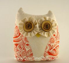 Owl Plush by quiettimequiltsdc on Etsy, $40.00