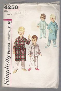 Child's Robe and Pajamas Simplicity #4250 Sewing Pattern