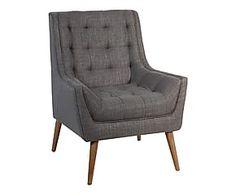 Fauteuil polyester et coton, gris - L71