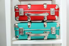 riveted suitcases and Suitcases, Mint, Box, Design, Snare Drum, Suitcase, Briefcase, Peppermint