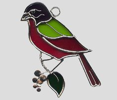 Stained Glass Art by Glass Illusions - Bird Hangings Stained Glass Cardinal, Stained Glass Birds, Stained Glass Projects, Stained Glass Patterns, Slumped Glass, Leaded Glass, Mosaic Glass, Pet Birds, Illusions