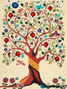 Tree Of Life Artwork, Tree Of Life Painting, Tree Art, Tree Of Life Images, Artwork Wall, Painting Art, Art Sketches, Art Drawings, Karla Gerard