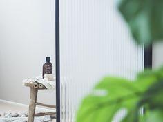#glassshower #meltedglass #temperedglass #hardenedglass #glass #door #glassdoor #bathroom #bathroomideas #luxurybathroom #stripeglass #clearglass #blackframe #aluminiumframe #pivothingeshowerdoor #custom-made #uniquedesign #handcrafted #finnishdesign #interiordesign #scandinaviandesign Glass Door, Bathroom, Luxury, Washroom, Full Bath, Glass Doors, Bath, Bathrooms
