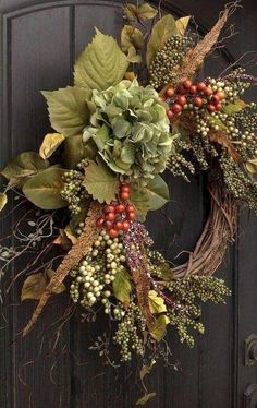 Beautiful spring wreath Decor idea for your home 03 – Home Sweet Home – Wreaths Thanksgiving Wreaths, Autumn Wreaths, Holiday Wreaths, Fall Door Wreaths, Rustic Wreaths, Holiday Decor, Country Wreaths, Christmas Door Decorations, Christmas Trees