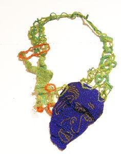 jscott_No Title_Chagall/Matisse_West African Fabric Hand-woven_Glass Beads