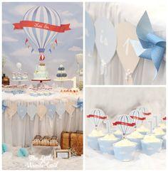 Vintage Hot Air Balloon Birthday Party via Kara's Party Ideas   KarasPartyIdeas.com (2)