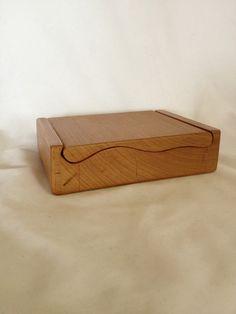 Custom Cherry Wood Bandsaw Storage or Jewelry Box on Etsy, $22.88